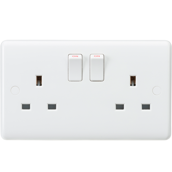 ML Accessories-CU9000 Curved Edge 13A 2G DP Switched Socket