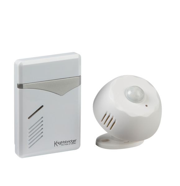 ML Accessories-DC006 White Wireless PIR Door Chime (100m range)