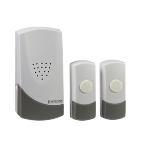 ML Accessories-DC007 White Wireless Dual Entrance Door Chime Kit (100m range)