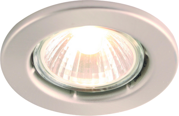ML Accessories-DGZ10CBR IP20 50W GU10 Brushed Chrome Recessed Fixed Downlight