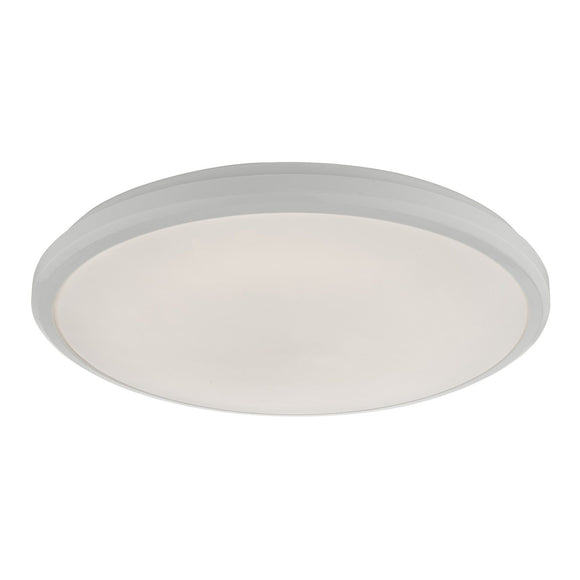 Emmett Flush White Acrylic Medium IP44 LED