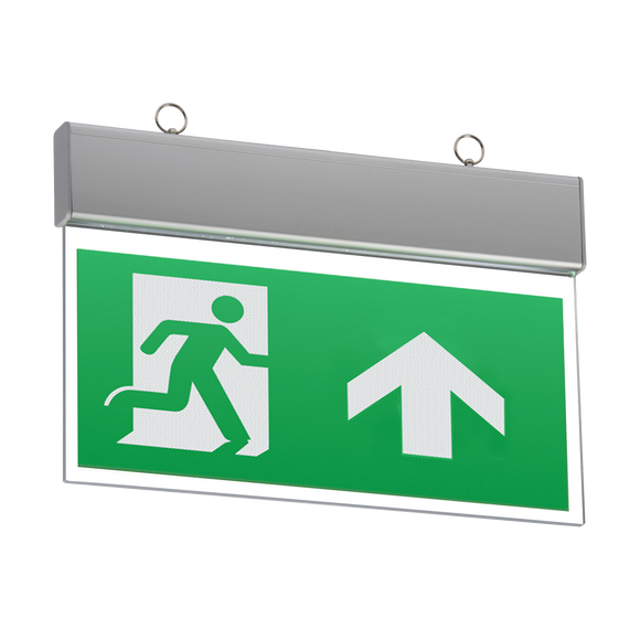 ML Accessories-EMSWING 230V IP20 Ceiling Mounted LED Emergency Exit Sign (maintained/non-maintained)