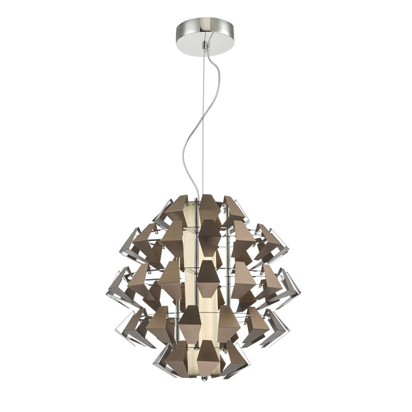 Falcon 1lt Pendant Suspension Bronze 35w LED