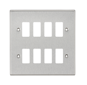 ML Accessories-GDCS8BC 8G Grid Faceplate - Square Edge Brushed Chrome