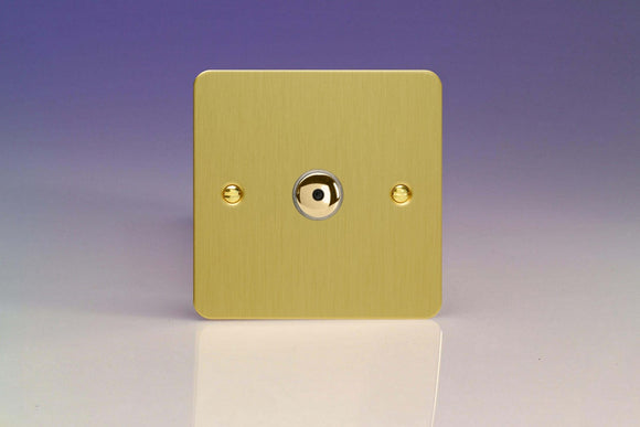 Varilight IJFBI101 Ultraflat Brushed Brass 1-Gang 1-Way Remote/Touch Control Master LED Dimmer 1 x 0-100W (1-10 LEDs)