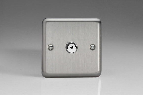 Varilight IJSI101 Value Matt Chrome 1-Gang 1-Way Remote/Touch Control Master LED Dimmer 1 x 0-100W (1-10 LEDs)