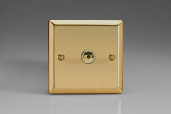 Varilight IJVI101 Classic Victorian Brass 1-Gang 1-Way Remote/Touch Control Master LED Dimmer 1 x 0-100W (1-10 LEDs)