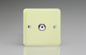 Varilight IJYI101.WC Lily White Chocolate 1-Gang 1-Way Remote/Touch Control Master LED Dimmer 1 x 0-100W (1-10 LEDs)