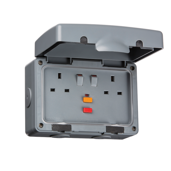 ML Accessories-IPRCD IP66 13A RCD 2G Switched Socket
