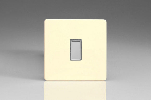 Varilight JDWES001S Screwless White Chocolate 1-Gang Tactile Touch Control Dimming Slave for use with Multi-Point Touch or Remote Master on 2-Way Circuits