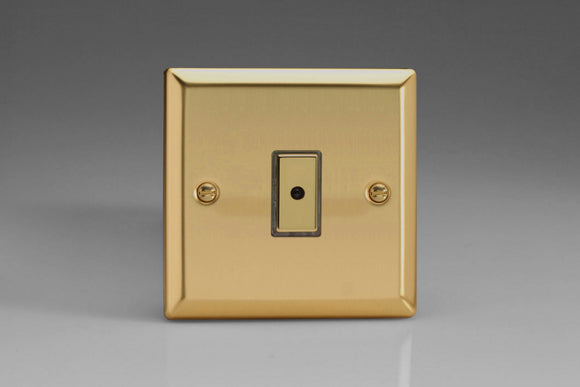 Varilight JVE101 Classic Victorian Brass 1-Gang Multi-Way Remote/Tactile Touch Control Master LED Dimmer 1 x 0-100W (1-10 LEDs)