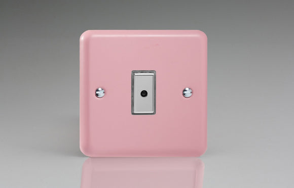 Varilight JYE101.RP Lily Rose Pink 1-Gang Multi-Way Remote/Tactile Touch Control Master LED Dimmer 1 x 0-100W (1-10 LEDs)