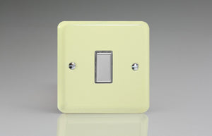 Varilight JYES001.WC Lily White Chocolate 1-Gang Tactile Touch Control Dimming Slave for use with Multi-Point Touch or Remote Master on 2-Way Circuits