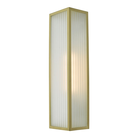 Keegan 1 Light Wall Light Satin Brass IP44