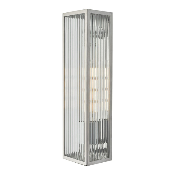 Keegan 1 Light Wall Light Polished Stainless Steel IP44