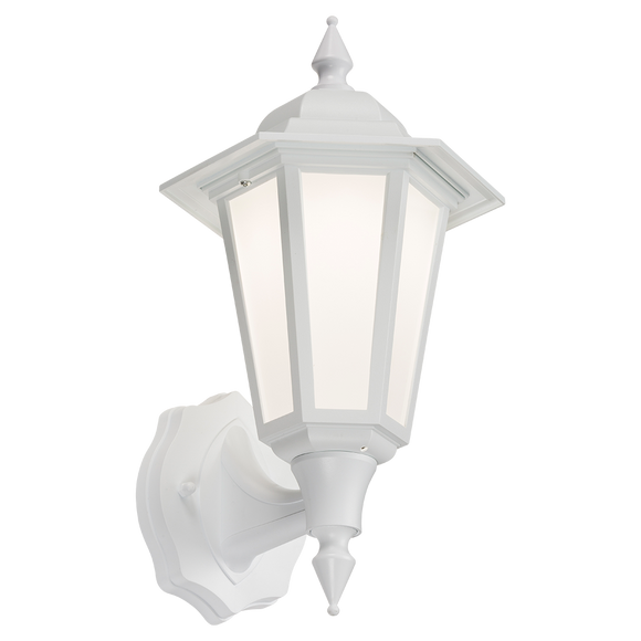 ML Accessories-LANT1W 230V IP54 8W LED Wall Lantern - White