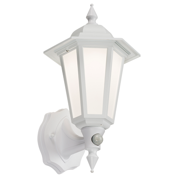 ML Accessories-LANT2W 230V IP54 LED Wall Lantern with PIR - White