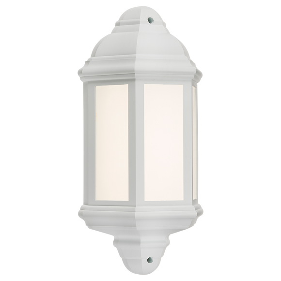 ML Accessories-LANT3W 230V IP54 LED Half Wall Lantern - White