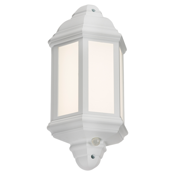 ML Accessories-LANT4W 230V IP54 LED Half Wall Lantern with PIR - White