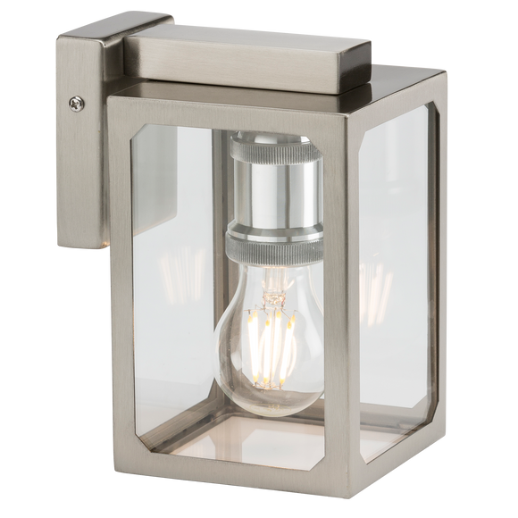 ML Accessories-LANTSS 230V IP23 E27 Wall Lantern - Brushed Chrome