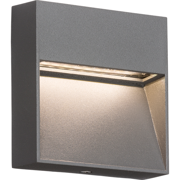 ML Accessories-LWS2G 230V IP44 2W LED Square Wall/Guide light - Grey