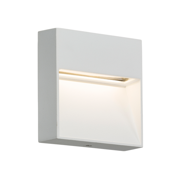 ML Accessories-LWS2W 230V IP44 2W LED Square Wall /Guide light - White