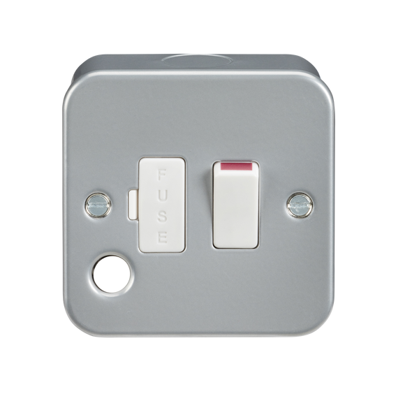 ML Accessories-M6300F Metal Clad 13A Switched Fused Spur Unit with Flex Outlet