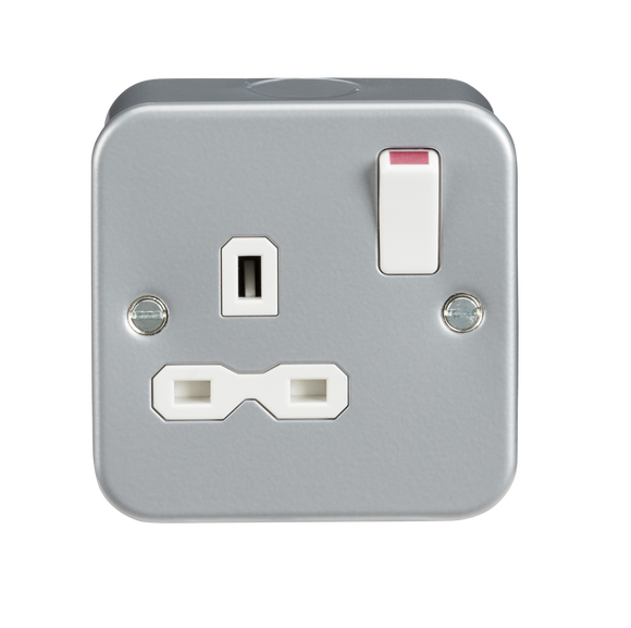 ML Accessories-MR7000 Metal Clad 13A 1G DP Switched Socket