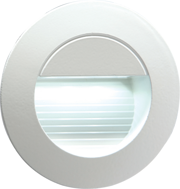 ML Accessories-NH020W 230V IP54 Recessed Round Indoor/Outdoor LED Guide/Stair/Wall Light White LED
