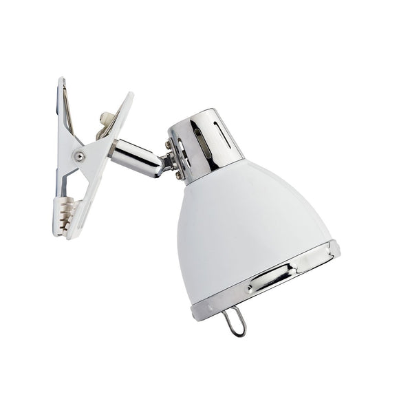 Osaka 1 Light Clip On Spot White and Polished Chrome