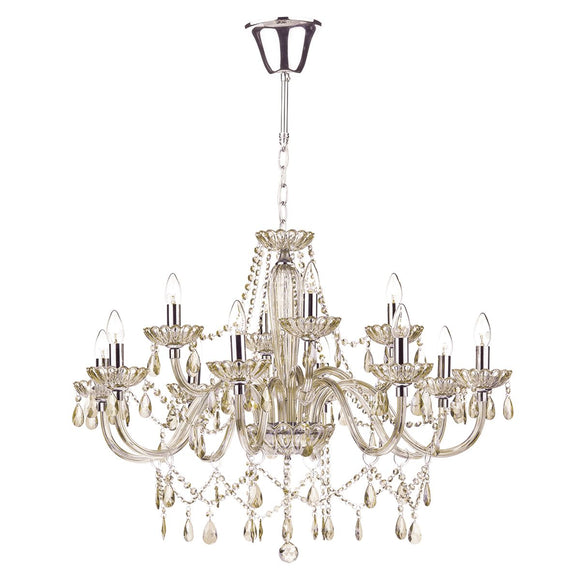 Raphael 12 Light Chandelier Champagne Crystal