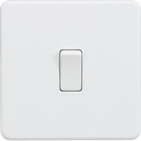 ML Accessories-SF2000MW Screwless 10AX 1G 2-Way Switch - Matt White
