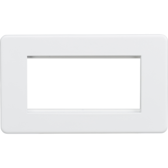 ML Accessories-SF4GMW Screwless 4G Modular Faceplate - Matt White