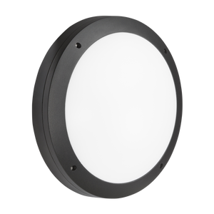 ML Accessories-SHE1BEM 230V IP65 18W LED Round Bulkhead CCT with Emergency Black