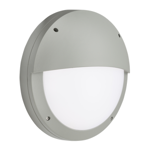ML Accessories-SHE2GS 230V IP65 18W LED Eyelid Bulkhead CCT with Microwave Sensor Grey