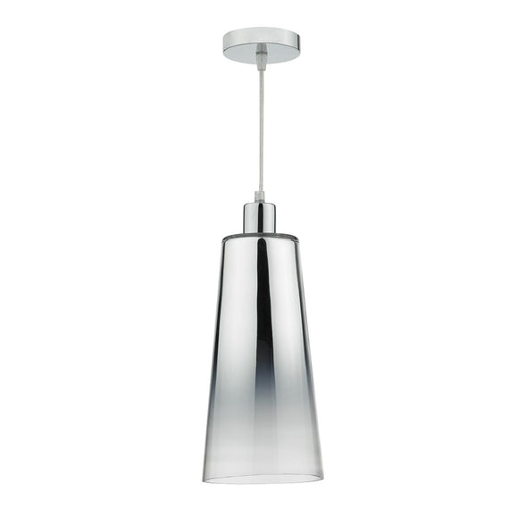 Smokey Easy Fit Pendant Graduated Chromed Glass