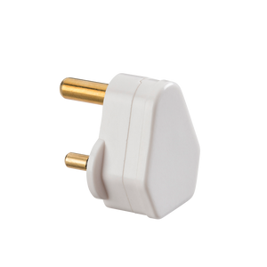 ML Accessories-SN135A 5A Round Pin Plug Top - White (Screw Cord Grip)