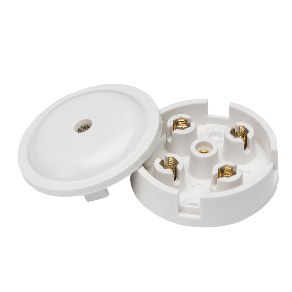 ML Accessories-SN8400 5A Junction Box 4-Terminal - White (59mm)