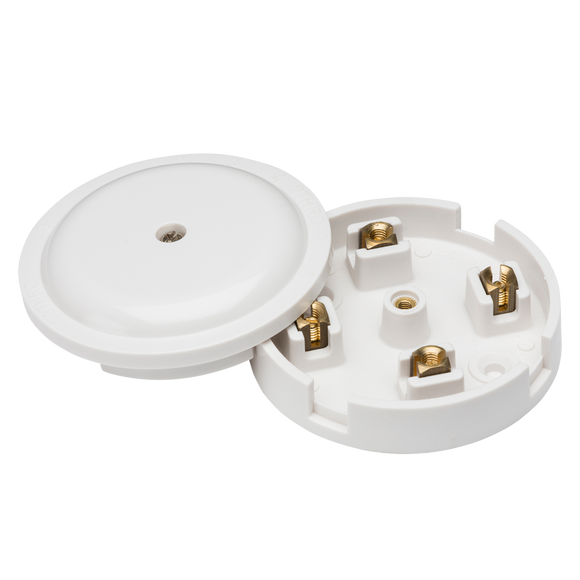 ML Accessories-SN8420 20A Junction Box 4-Terminal - White (79mm)