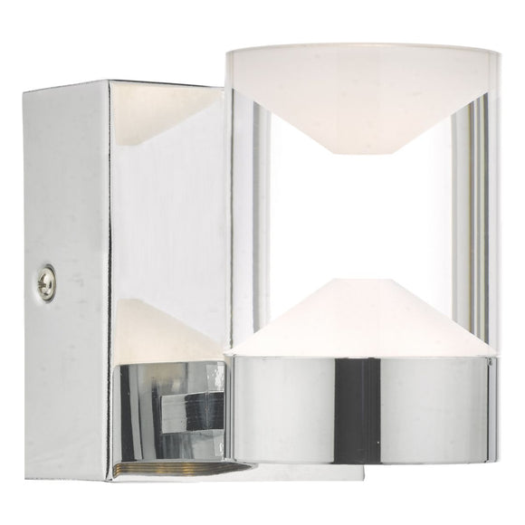 Susa W/Lt Polished Chrome & Acrylic LED Bathroom IP44