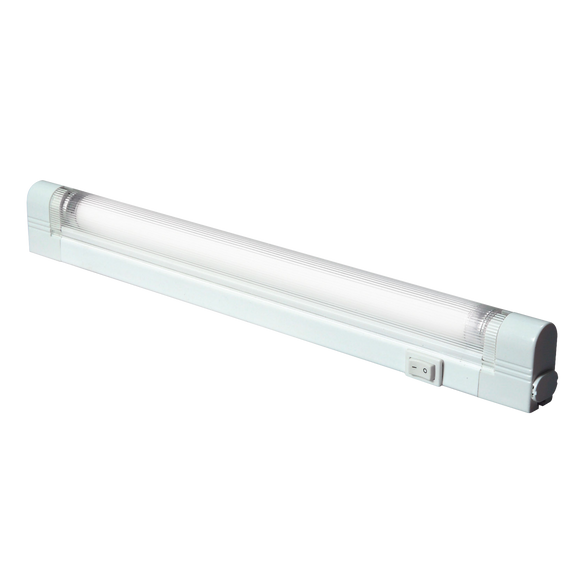ML Accessories-T521 IP20 T5/G5 20W Slimline Linkable Fluorescent Fitting with Tube, Switch and Diffuser 3500K