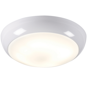 ML Accessories-TPB38WOHF IP44 38W HF Polo Bulkhead with Opal Diffuser and White Base