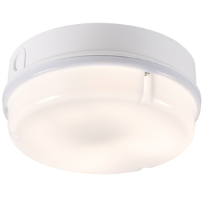 ML Accessories-TPR16WOHF IP65 16W HF Round Bulkhead with Opal Diffuser and White Base