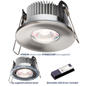 ML Accessories-VFR8CW PROKNIGHT LED IP65 8W Fire-Rated Downlight 4000K