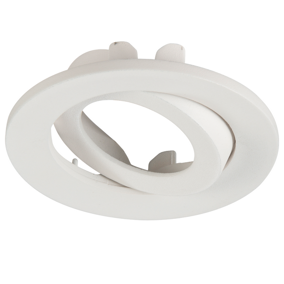 ML Accessories-VFR8TBEZMW Adjustable Matt White Tilt Bezel for VFR8 LED IP20 DownlightsL