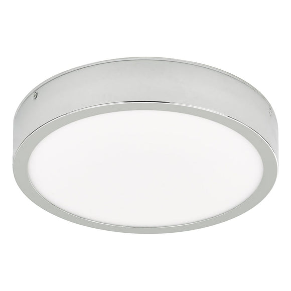 Warona Flush Polished Chrome C/W Speaker LED IP44
