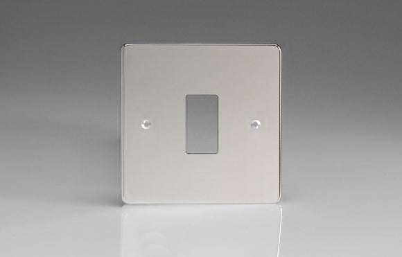 Varilight XDCPG1 PowerGrid Polished Chrome 1-Gang Grid Plate (Single Plate)