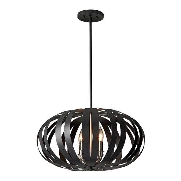 Feiss Woodstock 4 Light Medium Chandelier FE-WOODSTOCK-P-M