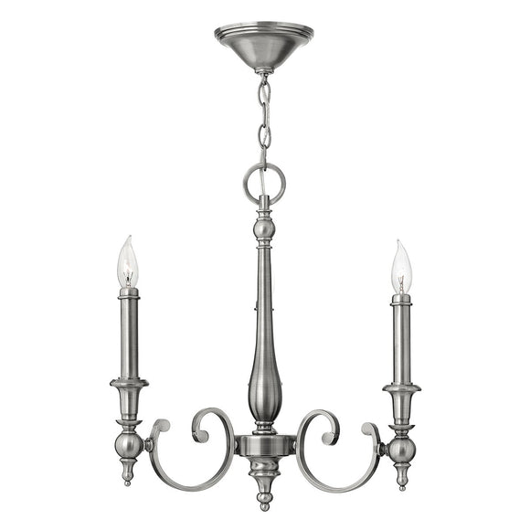 Hinkley Lighting Yorktown 3 Light Chandelier HK-YORKTOWN3