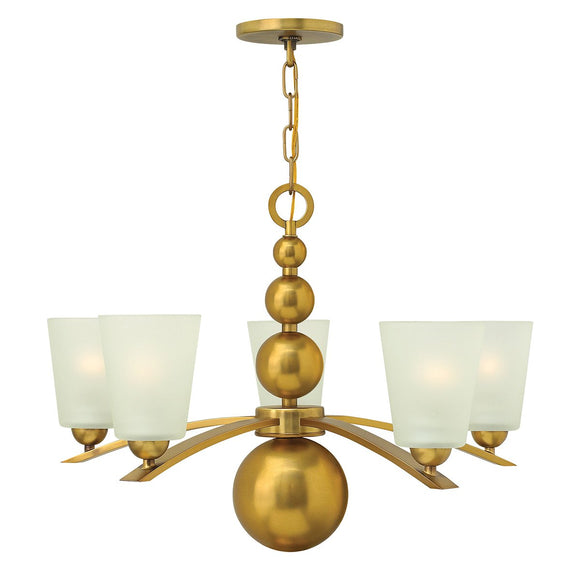 Hinkley Lighting Zelda 5 Light Chandelier - Vintage Brass HK-ZELDA5-VS